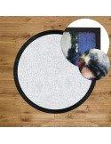 Tapis d'entrée Logo ROND - Bord caoutchouc