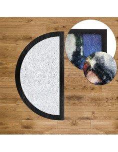 Tapis d'entrée Logo DEMI LUNE- Bord caoutchouc