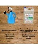 Tapis d'entrée personnalisé COVID + solution hydro alcoolique