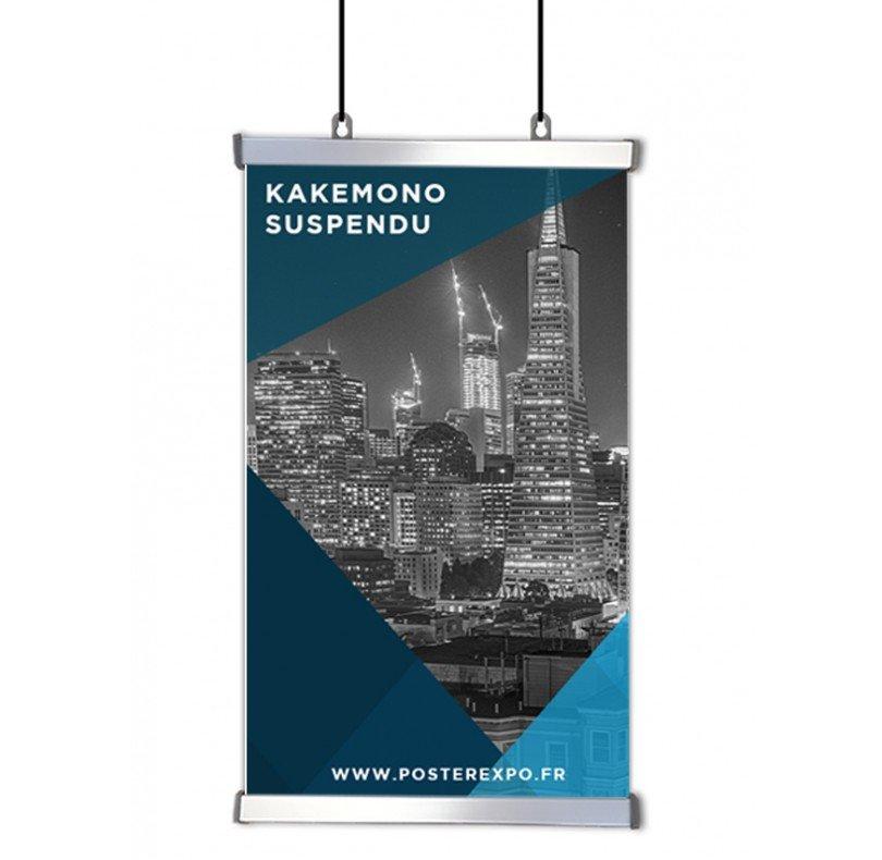 Photo d'un kakemono suspendu 100x200cm
