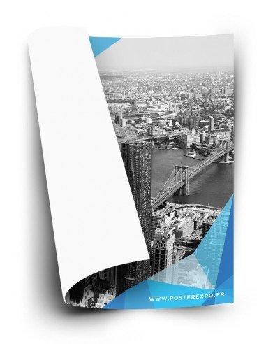 Photo d'une affiche papier 120gr eco