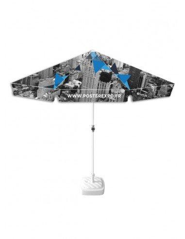 photo d'un parasol 200x200cm personnalisé.