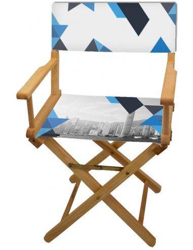 Photo d'une chaise de metteur en scène personnalisables, 78x54x47cm.