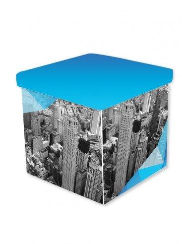 Mobilier personnalisé - Cube Pliable avec Couvercle Personnalisé