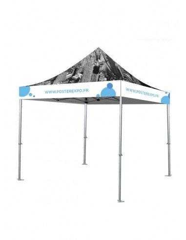 photo d'une Tente personnalisables 3x3m - Toît et fronton