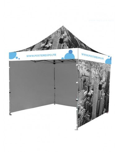 Photo d'une tente personnalisé de 3 mètre sur 3, tous inclus.