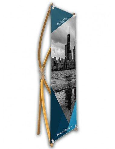 Photo d'une Bannière X en Bambou 60x160cm.